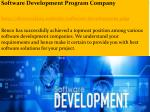 software development program company http