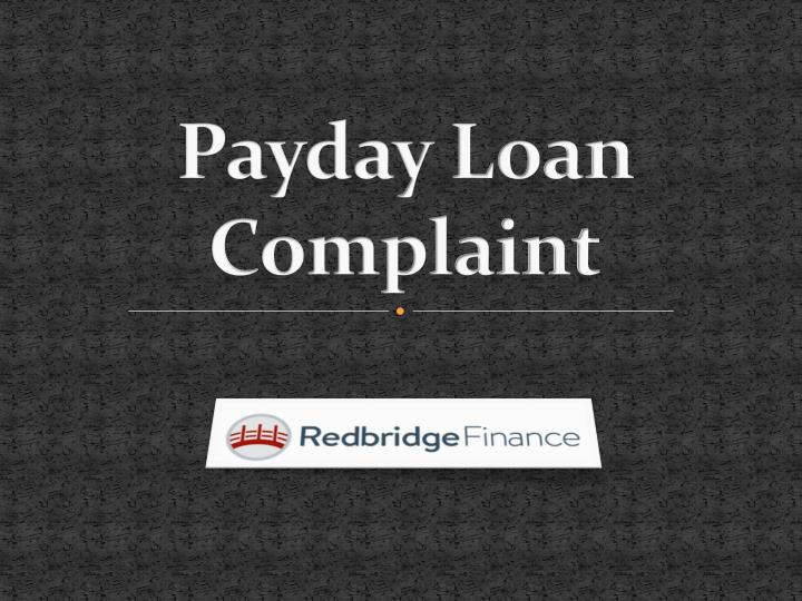 payday loan complaint n.