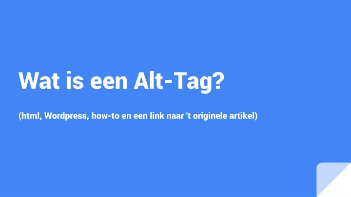 wat is een alt tag n.