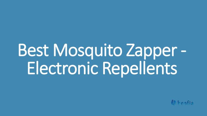 best mosquito zapper electronic repellents n.