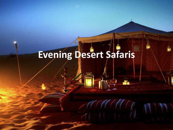 evening desert safaris n.