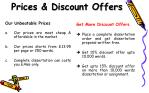 prices discount offers