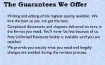 the guarantees we offer