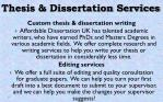 thesis dissertation services