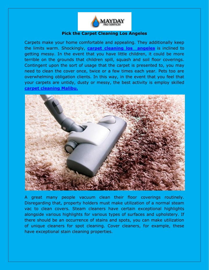 pick the carpet cleaning los angeles n.