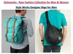 style works designer bags for men