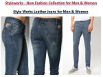style works leather jeans for men women