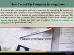 how to set up company in singapore