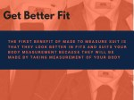 get better fit