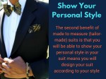 show your personal style