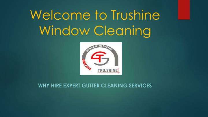 welcome to trushine window cleaning n.