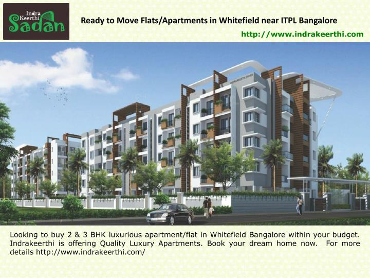 ready to move flats apartments in whitefield near n.