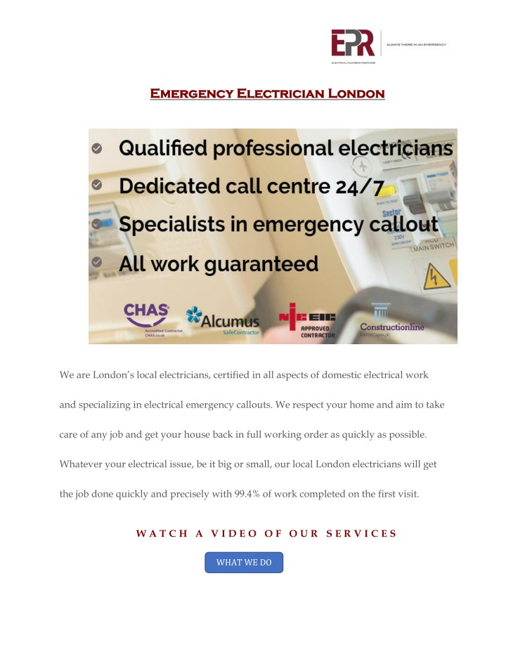 emergency electrician london emergency n.
