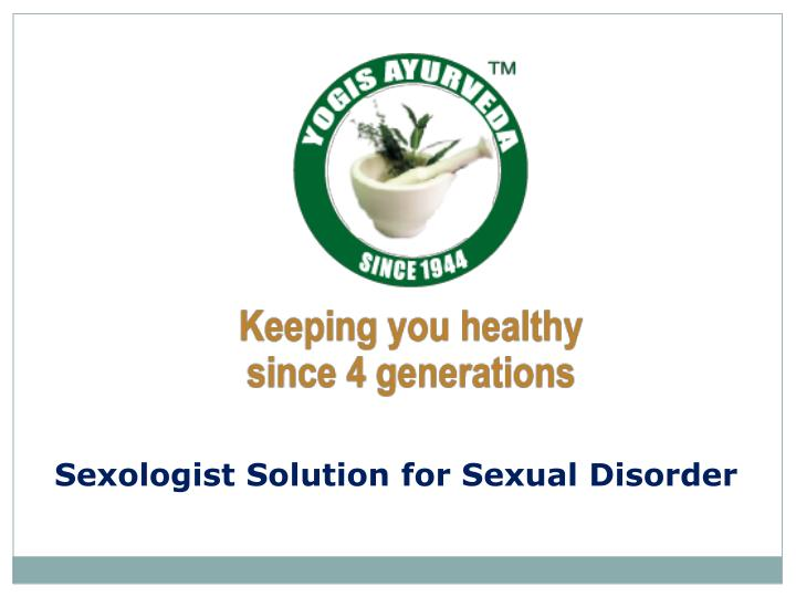 sexologist solution for sexual disorder n.