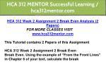 hca 312 mentor successful learning hca312mentor 5
