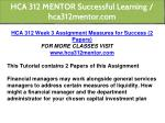 hca 312 mentor successful learning hca312mentor 9