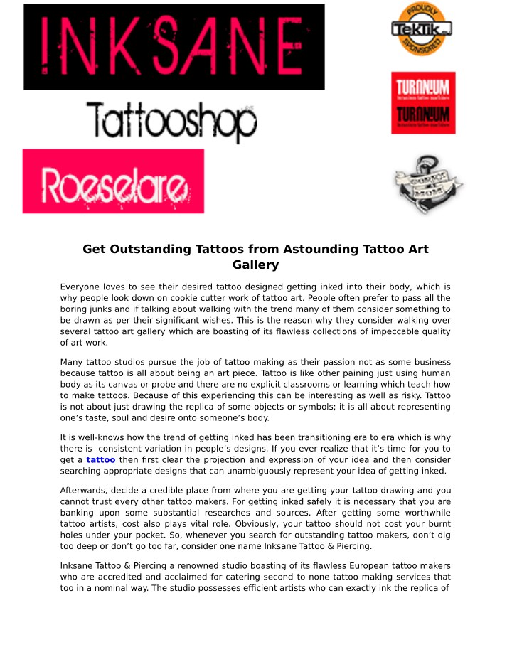 get outstanding tattoos from astounding tattoo n.