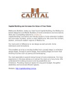 capital building can increase the value of your