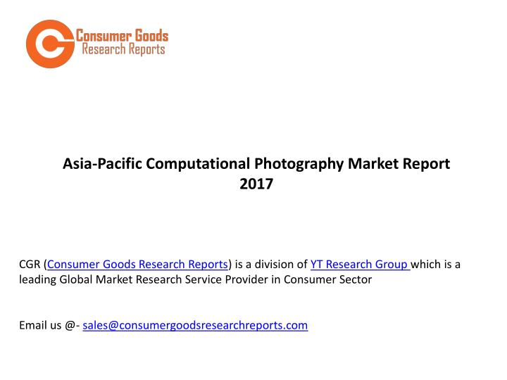 asia pacific computational photography market n.