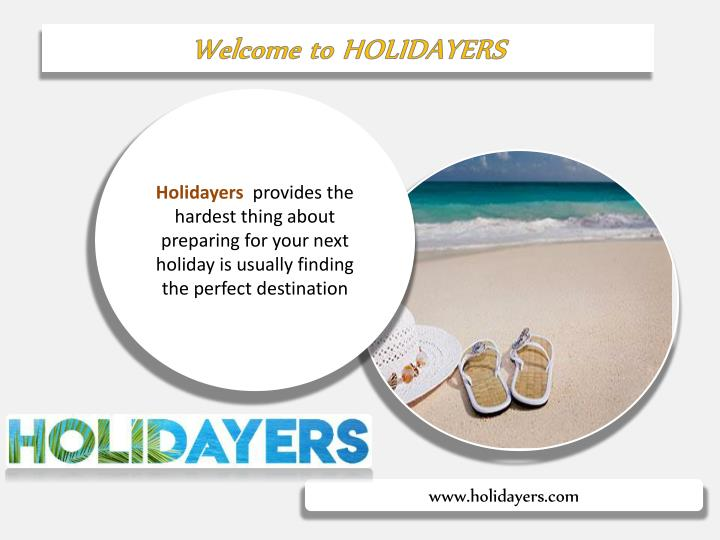 welcome to holidayers n.