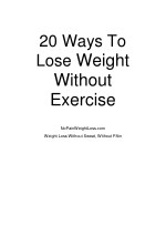20 ways to lose weight without exercise