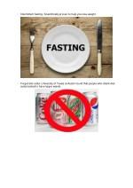 intermittent fasting scientifically proven