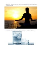 meditation time and time again research shows