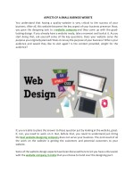aspects of a small business website