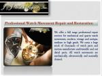 professional watch movement repair and restoration