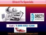direct tv specials