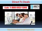 direct tv deals