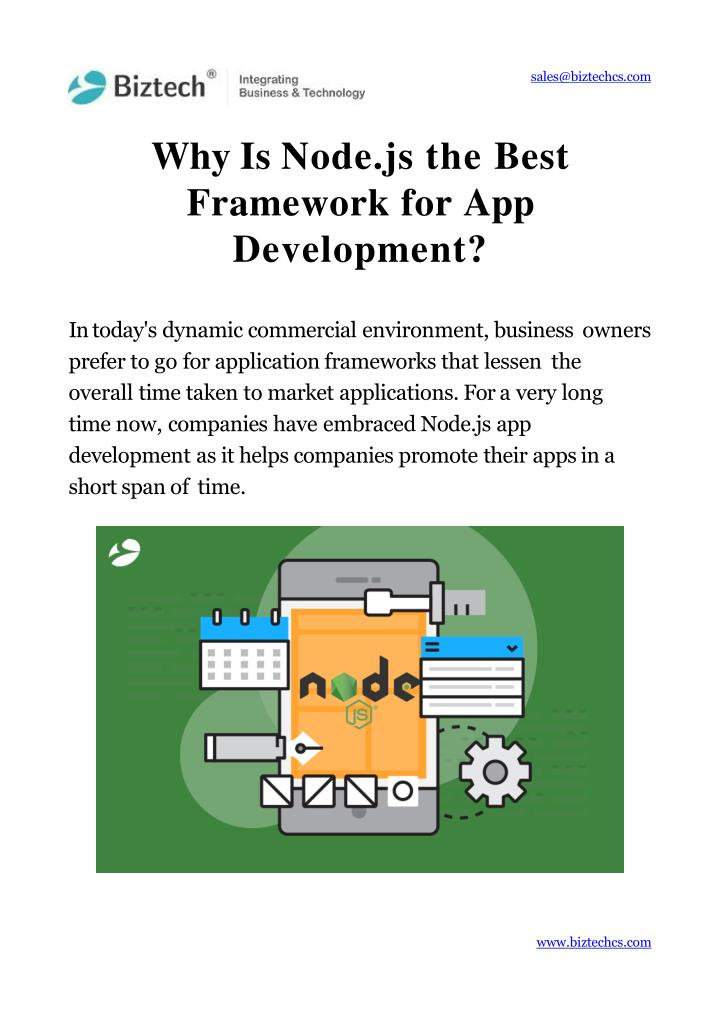why is node js the best framework for app development n.