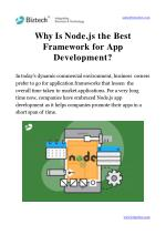 why is node js the best framework for app development