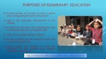 purposes of elementary education