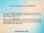 domestic housekeeper in across melbourne 1