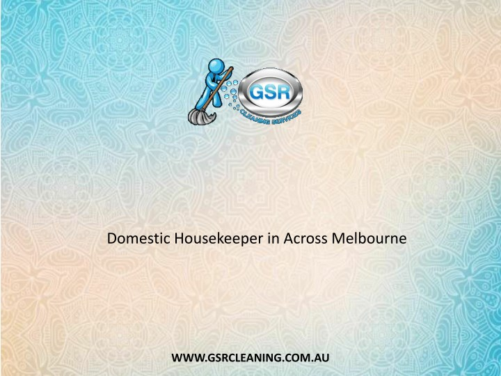 domestic housekeeper in across melbourne n.