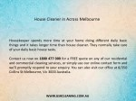 house cleaner in across melbourne 1