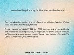 household help for busy families in across 1