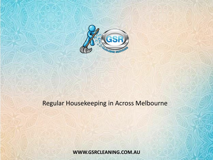 regular housekeeping in across melbourne n.