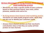 various advantages of hiring amazon omni channel