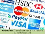 we to merchant transfers funds from its bank