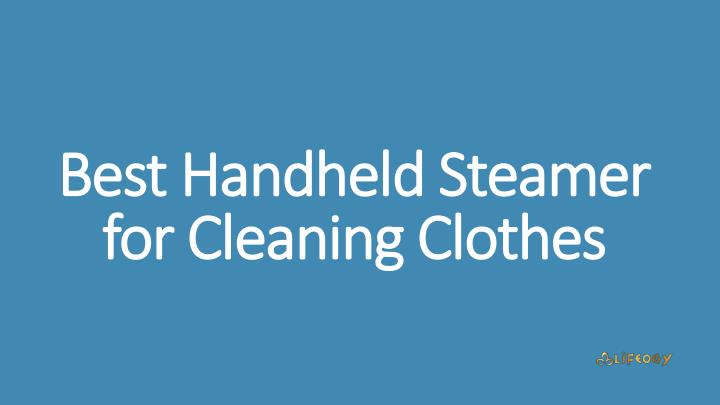 best handheld steamer for cleaning clothes n.