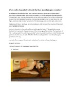 what are the ayurvedic treatments that cure lower