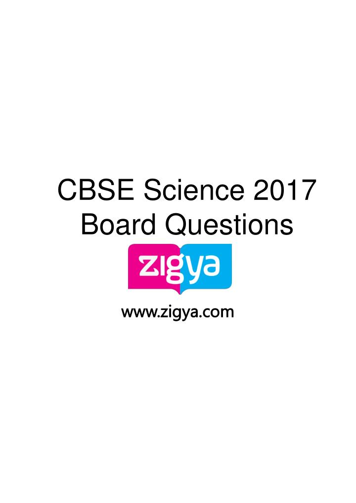 cbse science 2017 board questions n.
