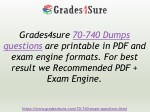 grades4sure 70 740 dumps questions are printable