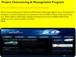 project outsourcing management program http