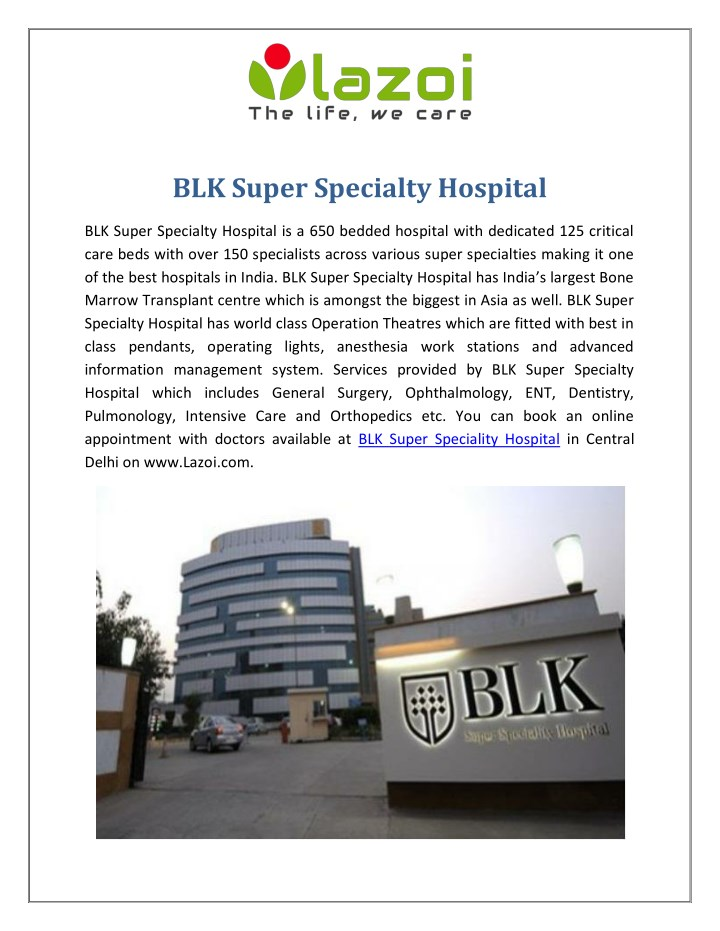 blk super specialty hospital n.