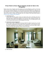 5 key points to know about tagaytay condo