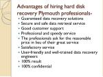 advantages of hiring hard disk recovery plymouth professionals