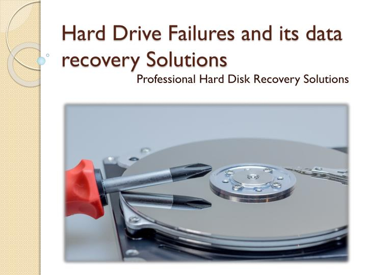 hard drive failures and its data recovery solutions n.